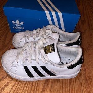 Boys Adidas superstar sneakers
